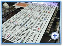 Таблички, печать на полистироле